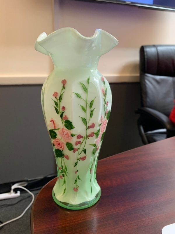 Decorative Vase with floral pattern.