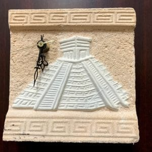 Chichen Itza Temple of Kukulkan Hand Finished Clock