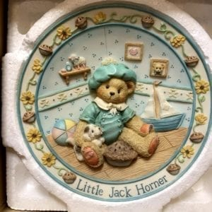 Cherished Teddies by Enesco Little Jack Horner Nursery Rhyme Plate
