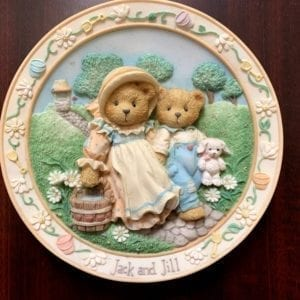 Cherished Teddies by Enesco Jack And Jill Nursery Rhyme Plate