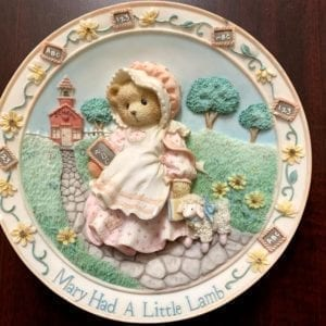 Cherished Teddies by Enesco Mary Had A Little Lamb Plate