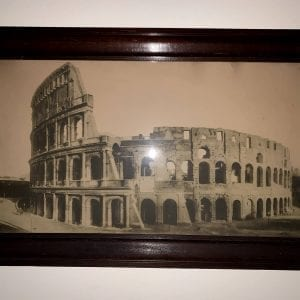 Antique Rome Coliseum Photograph Print Framed